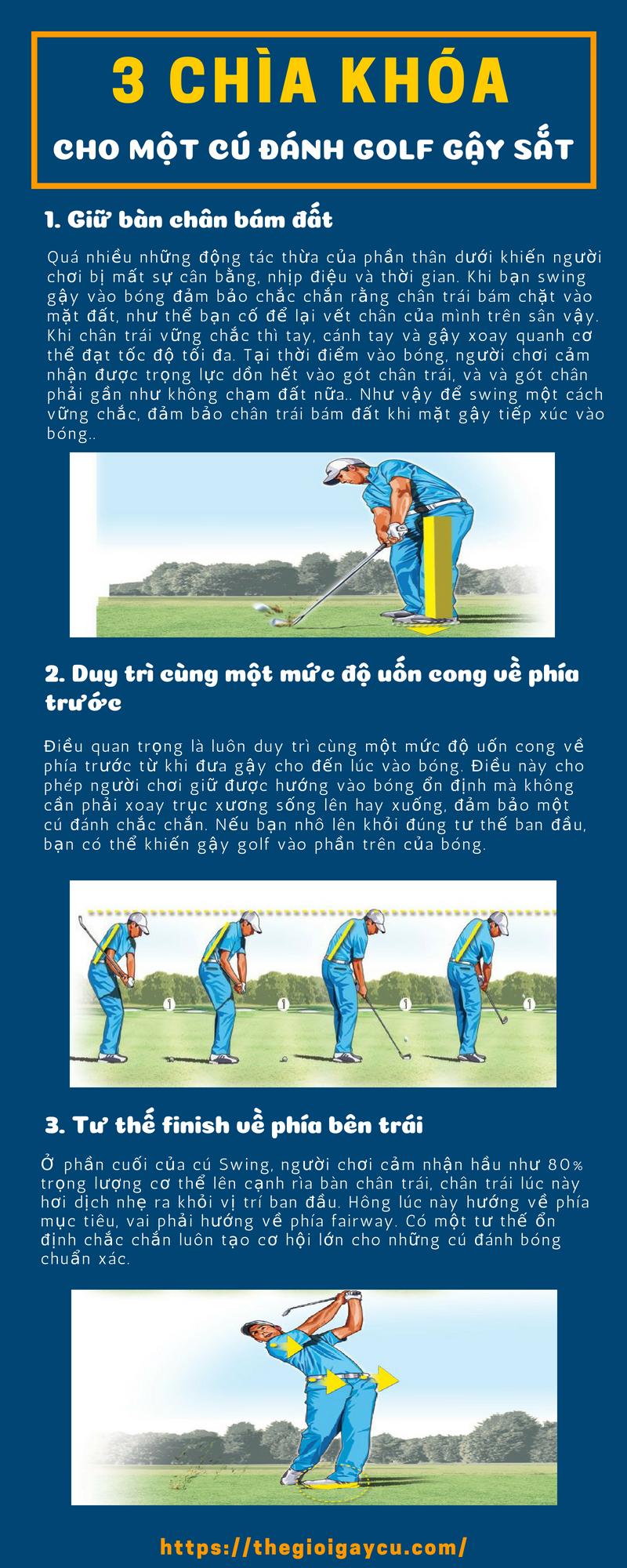 Kỹ thuật đánh golf gậy sắt hoàn hảo