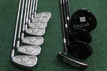 Các gậy của bộ golf Ping fullset đều có chất lượng như mới, hình thức bị xước do đã qua sử dụng của Golfer chuyên nghiệp