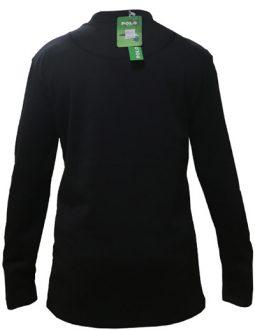 Áo Nỉ Polo nam Handee dài tay màu đen