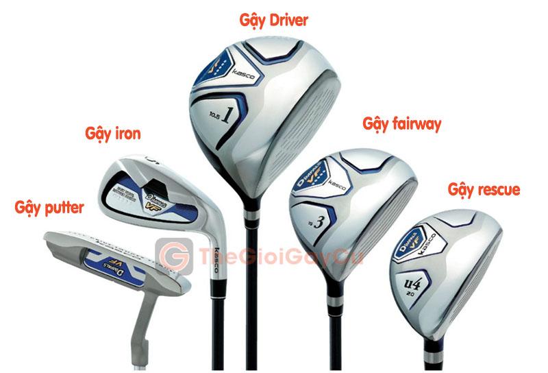 Một bộ gậy golf cơ bản gồm 5 loại gậy