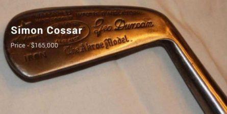 Chiếc gậy Simon Cossar Fruitwood Metal Headed Putter