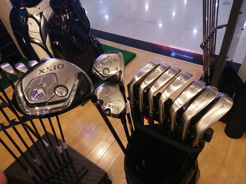 Bộ gậy golf full set cũ XXIO MP800 cán R