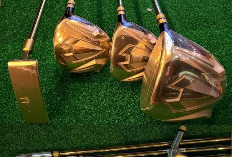 Những chiếc gậy Grand Prix được mạ vàng