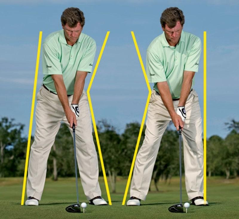 Kỹ thuật setup khi đánh golf với gậy driver cho đường bóng xa và thẳng