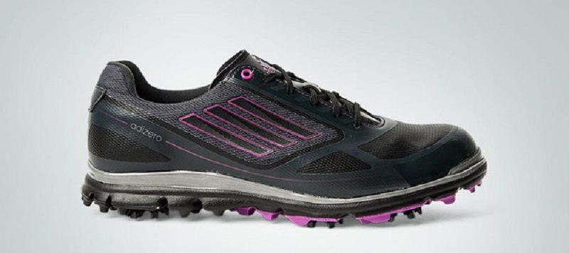 Phiên bản giày golf Adidas W Adizero Tour III màu đen/hồng