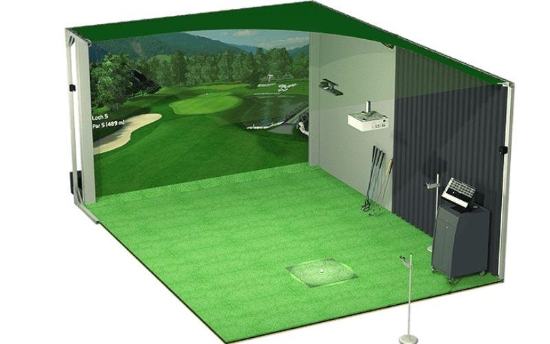 Phòng tập golf 3D được lắp đặt ngay trong khuôn viên gia đình