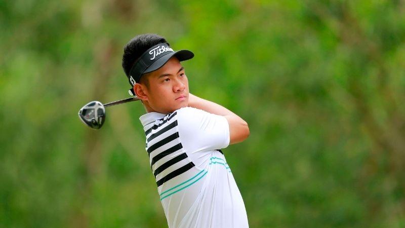 Vòng đấu đầu tiên golfer Trương Chí Quân sử dụng 68 gậy