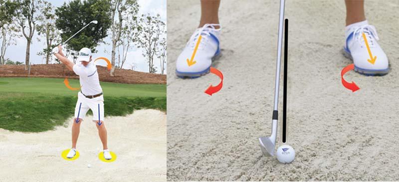 Nên dùng cát để đưa bóng lên cao, không đánh trực tiếp vào mặt bóng