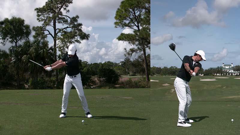 Rory Mcilroy luôn đảm bảo kiểm soát tốt lực trong mỗi cú swing