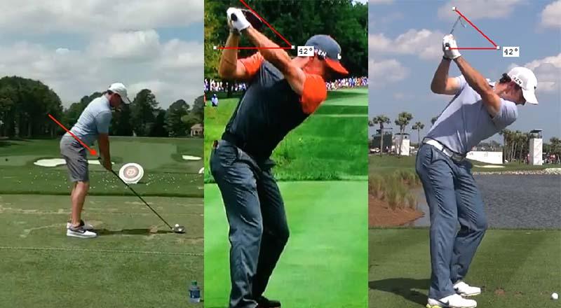 Các chuyển động khi thực hiện swing của Rory Mcilroy vô cùng kỹ thuật