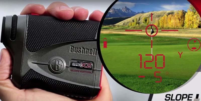 Bushnell Tour V4 Shift hỗ trợ đo đạc chính xác cả khi cờ không đứng yên
