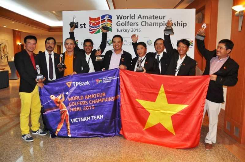 Đoàn Việt Nam đã xuất sắc dành được giải vô định golf nghiệp dư tại Thổ Nhĩ Kỳ