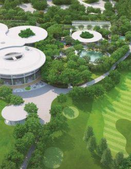 Phối cảnh thiết kế sân golf Harmonie Golf Park