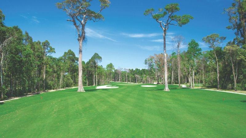 Sân golf Vinpearl Phú Quốc có không gian rộng lớn và đẳng cấp