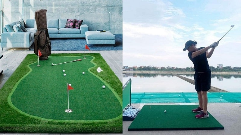 Phân biệt thảm golf putt và thảm tập swing