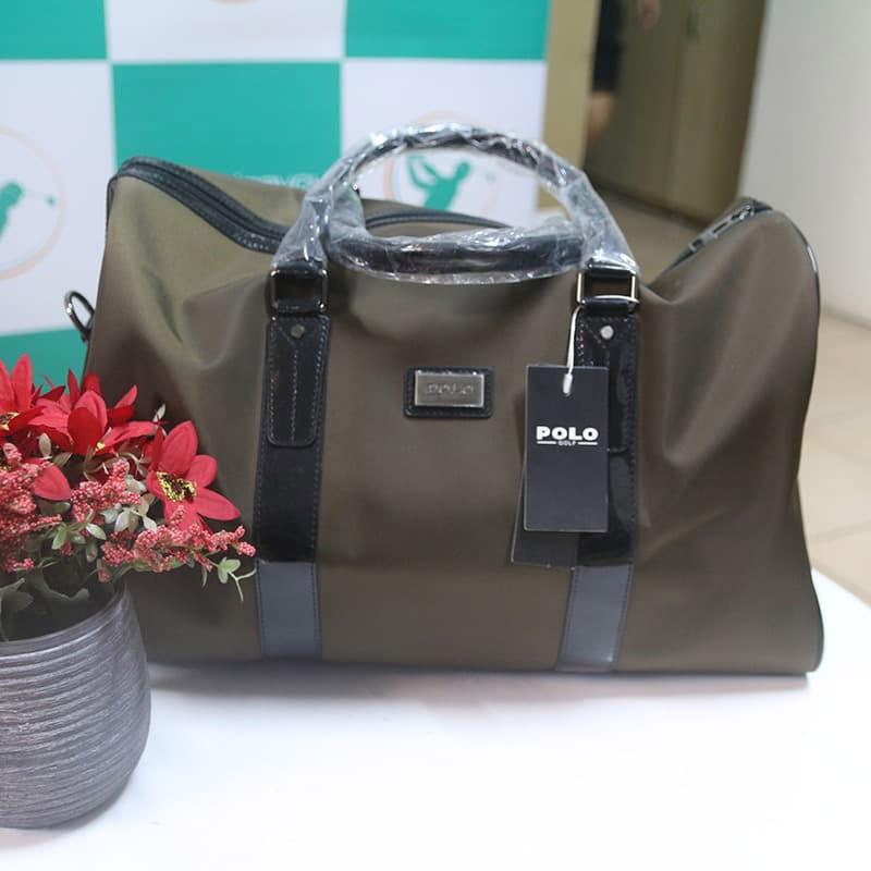 Túi xách golf Polo da màu nâu tiện ích dễ dàng lau chùi và chống thâm hiệu quả