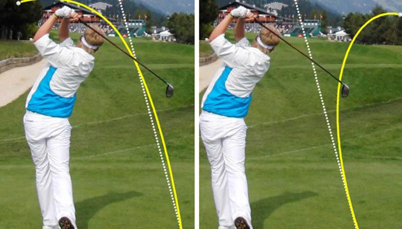 Hiện tượng bóng xoáy là do mặt gậy tiếp xúc với bóng một góc hơi hẹp