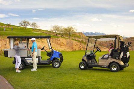 Những chiếc golf cart trên sân