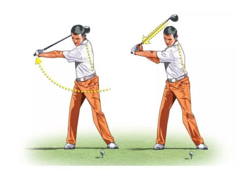 """""""Bẻ cổ tay"""" chính là bước quan trọng khi thực hiện backswing và downswing."""