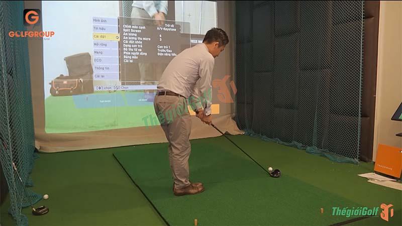 Với phòng golf 3D, người chơi sẽ có thể chủ động được về thời gian