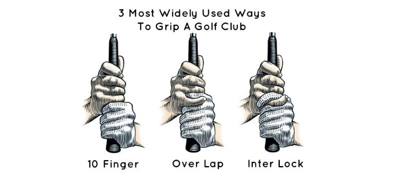 3 kiểu cầm grip golf phổ biến nhất rất hiệu quả