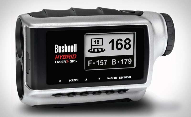 Ống nhòm golf Bushnell Hybrid Laser RangeFinder giúp các golfer đo chính xác khoảng cách từ bóng tới hố golf