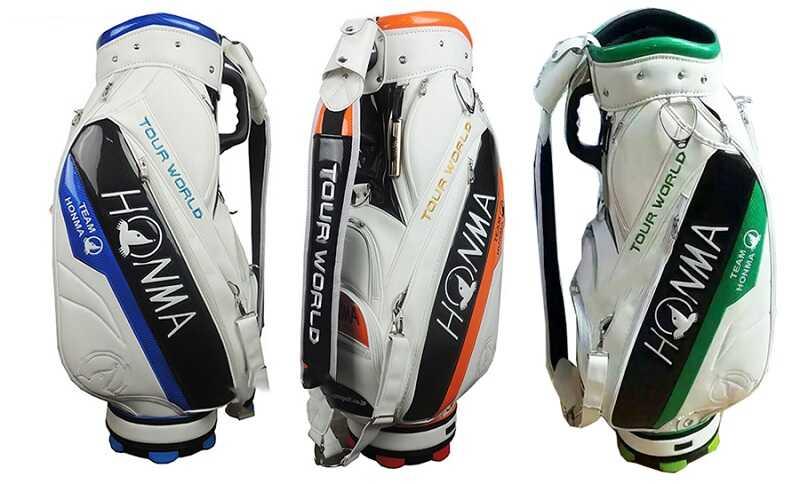 Túi golf Honma Tour World với thiết kế kết hợp màu sắc sang trọng, đẳng cấp