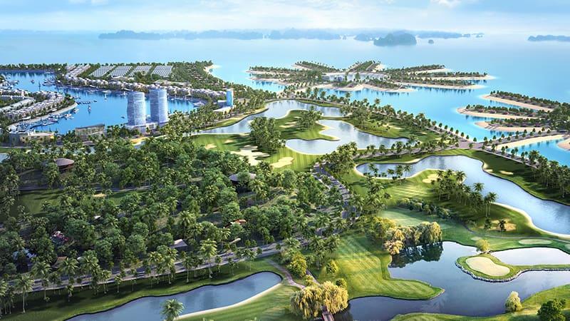 Phối cảnh tổng thể sân golf Tuần Châu