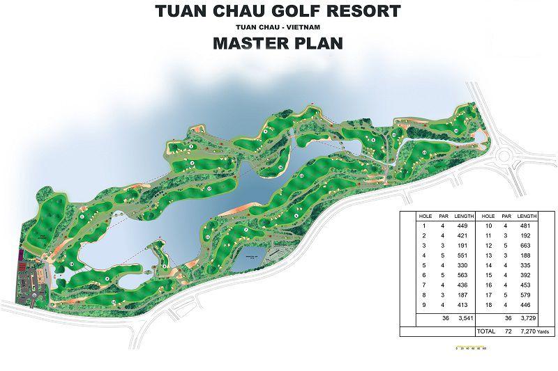 Thiết kế tổng thể của sân golf Tuần Châu