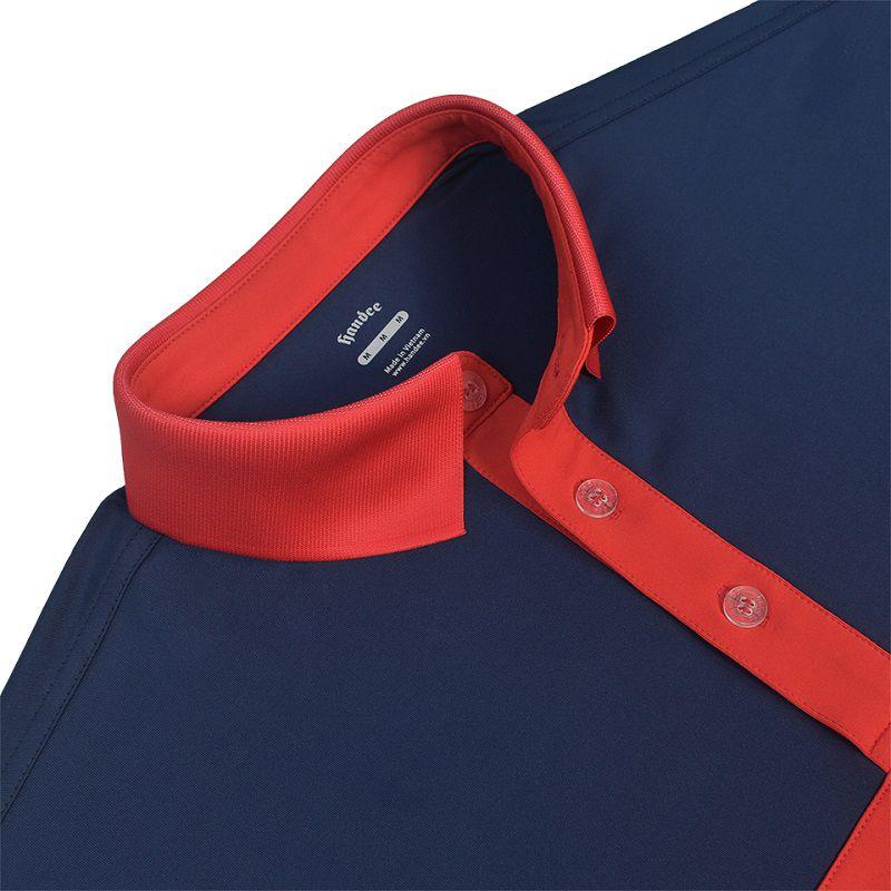 Áo phông Handee dáng polo gây ấn tượng với chất liệu vải cao cấp sử dụng 86% polyester và 14% elastane