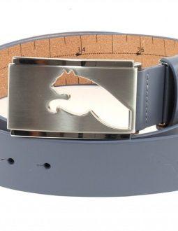 Puma Highlight Fitted Golf Belt sử dụng tông màu đen trung tính và khoá màu bạc nổi bật với hình logo hãng
