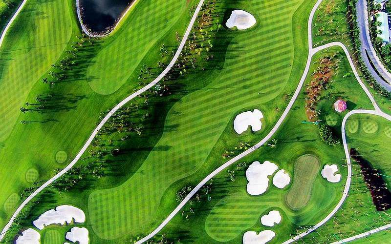 Khung cảnh sân golf Legend Hill nhìn từ trên cao