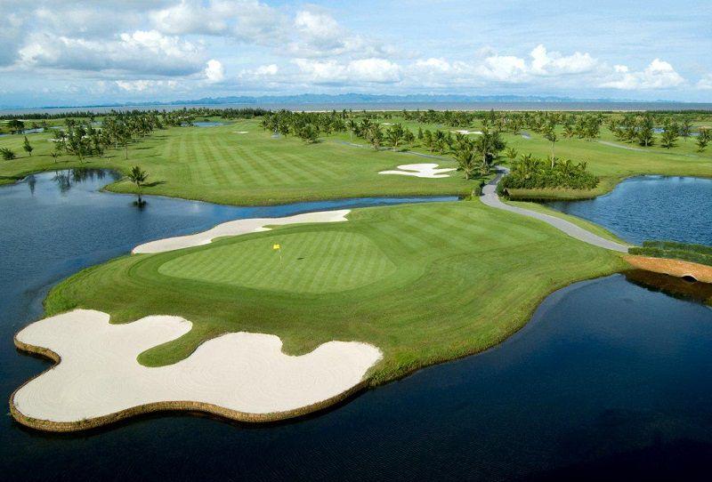 cảnh sắc Sân BRG Ruby Tree Golf Resort Đồ Sơn khi nhìn từ trên cao