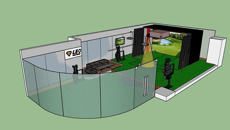 Thiết kế của một phòng golf 3D