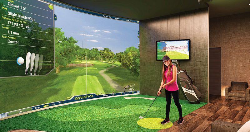 Phòng tập golf 3D mang đến nhiều tiện ích và thú vị cho người chơi