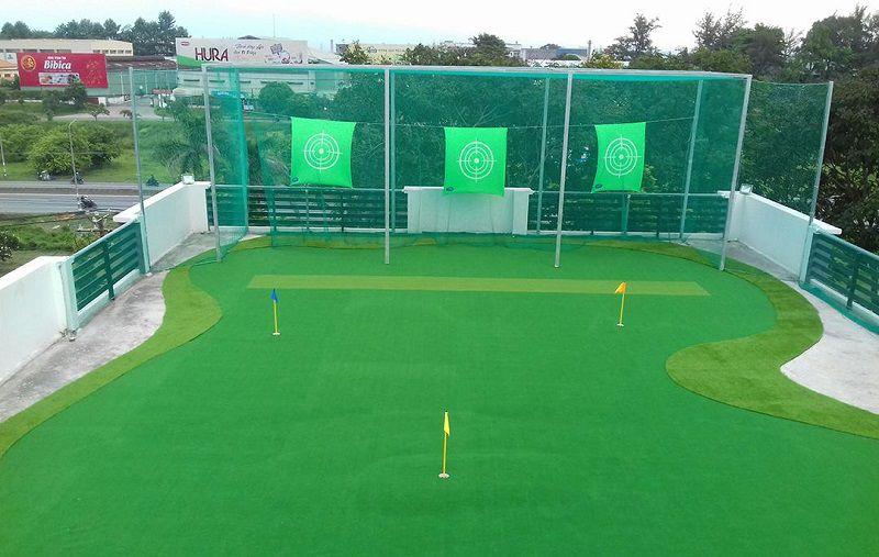 Sân golf mini sau khi được hoàn thiện