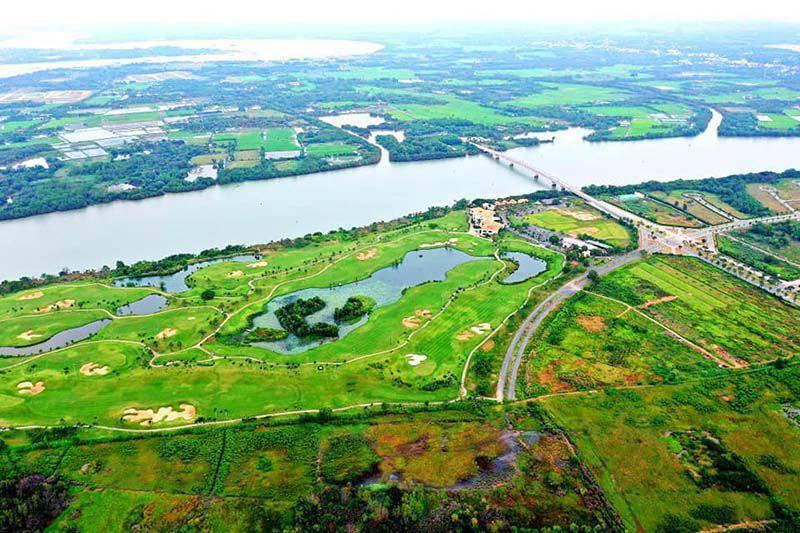 Sân golf Nhơn Trạch nhìn từ trên cao