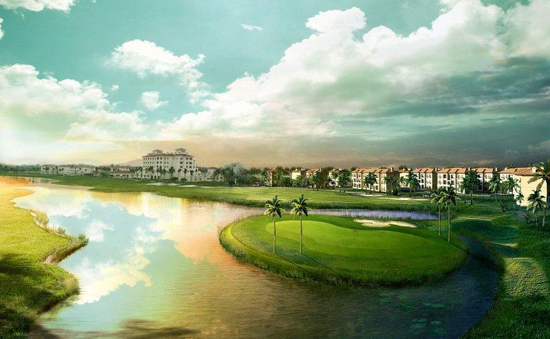 Sân golf Sông Giá như là bức tranh thiên nhiên sông nước hữu tình