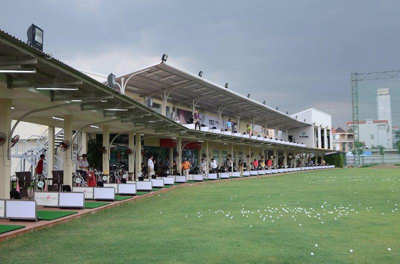 Sân tập golf Mỹ Đình Pearl được thiết kế 2 tầng