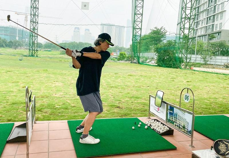 Sân tập golf Mỹ Đình là điểm đến yêu thích của nhiều golf thủ