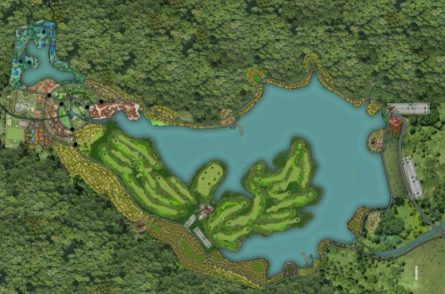 Sân golf Thanh Lanh tọa lạc ở vị trí khá lý tưởng